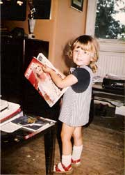 1978 - my daughter Kirstie aged 4 years