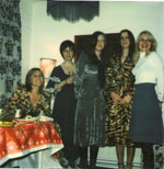 c1973  A rare photo of some of the first Quo wives